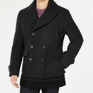 Calvin Klein Mens Wool Blend Winter Pea Coat NWT